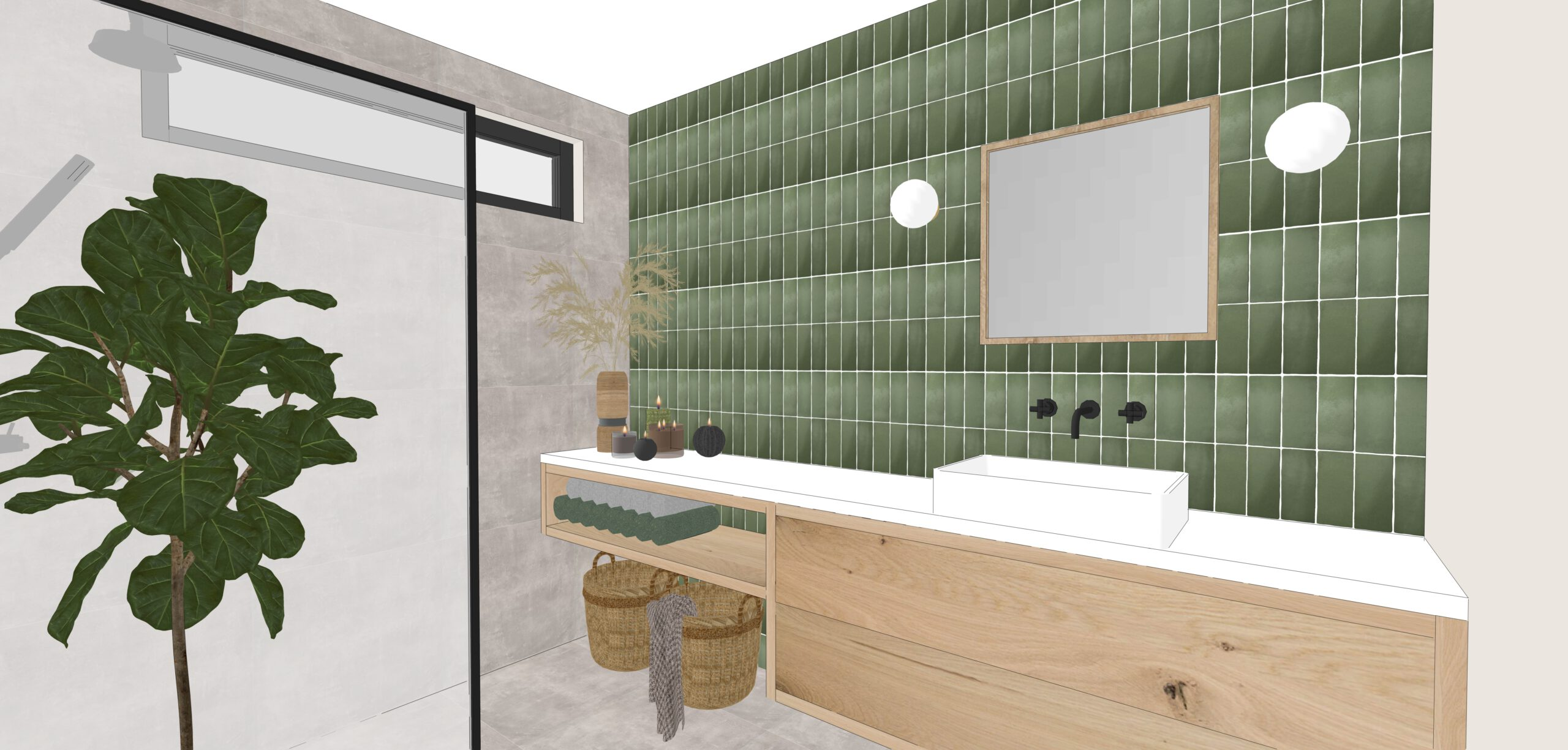 Interior design, Innenarchitektur, Innenarchitekt, Interieur ontwerp badkamer, maatwerk