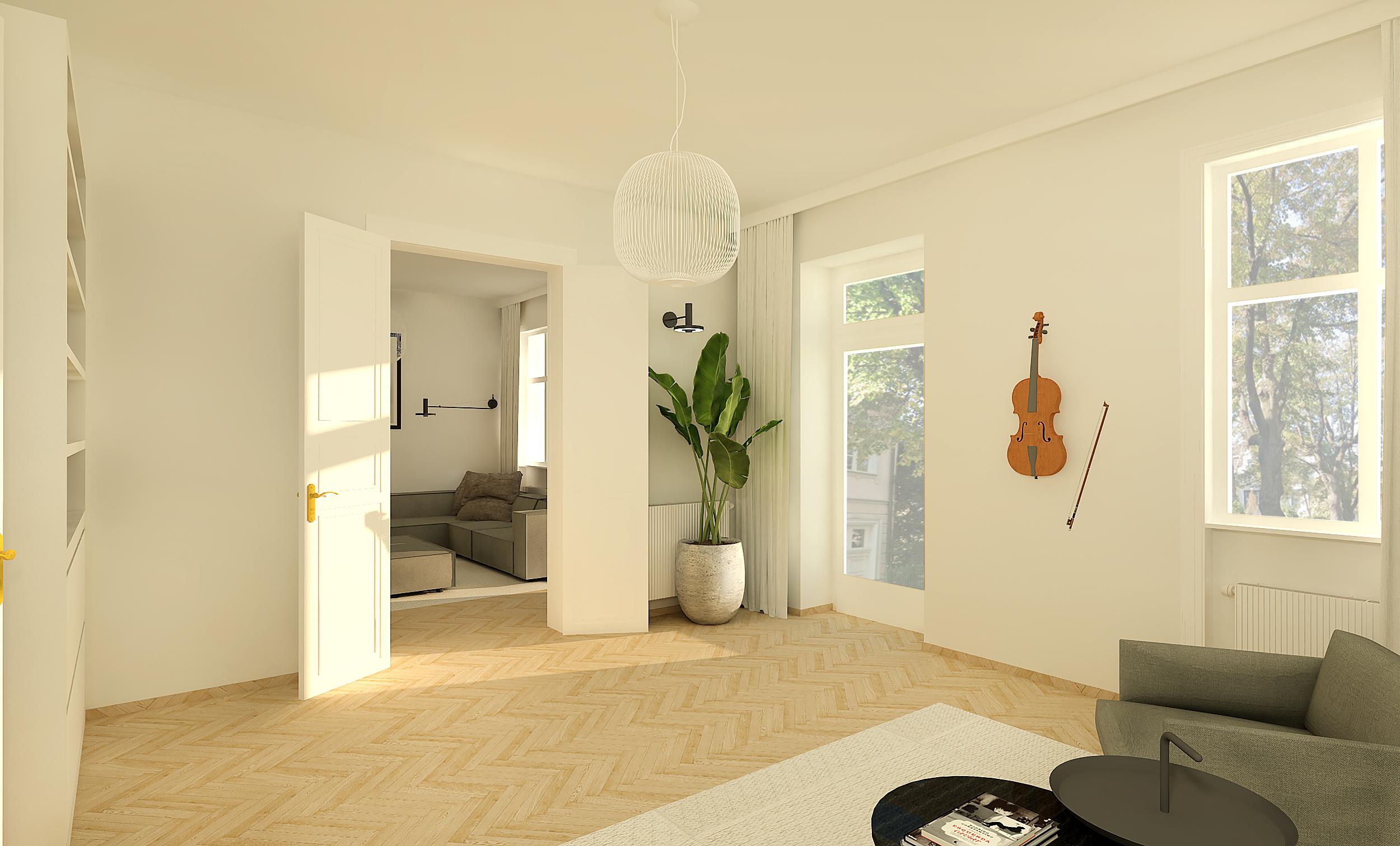 Render interior design project. Render interieur ontwerp project.